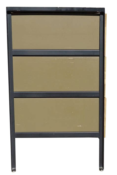 George Nelson Steel Frame Dresser by Mid Century Modern George Nelson Steel Frame Dresser For