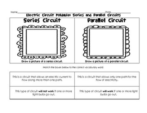 circuits in parallel and series worksheet worksheets electric and series and parallel circuits on
