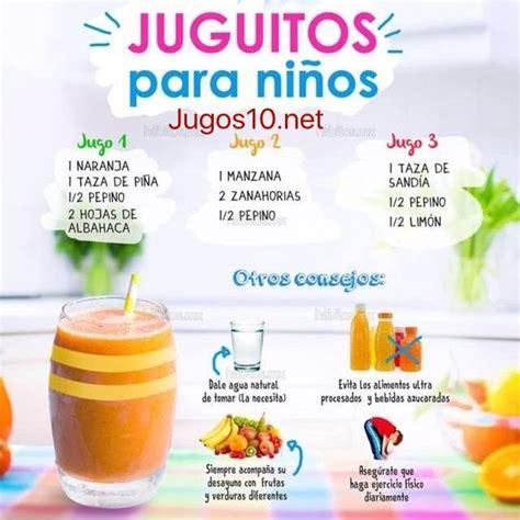 alimentos nutritivos para los niños best 25 jugos nutritivos para ni 241 os ideas on