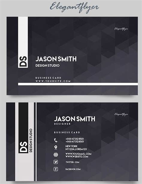 Minimalist Business Cards Free Downloads Templates by 10 Print Ready Minimalist Free Business Card Psd Templates
