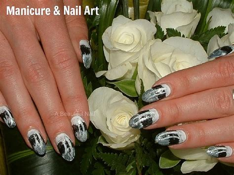 Zwarte Acryl Nagels by Nail Zwart Wit Zilver Nailart Nagels Nails Nail