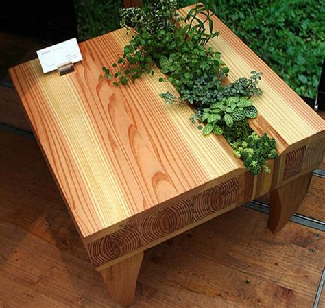 plant table kinokoto s wooden chair and table bring some greenery with