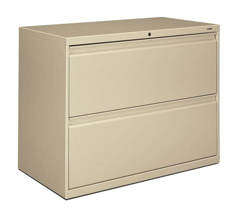 Horizontal File Cabinet Hon Brigade 800 Series 36 Inch 2 Drawer Lateral File Cabinet