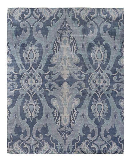 blue damask rug exquisite rugs blue damask flatweave rug 8 x 10
