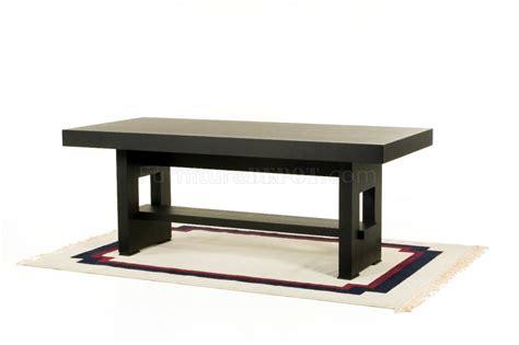 walnut modern rectangle dining table w shelf