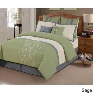 sage green and grey bedroom beautiful comforter and branches on pinterest
