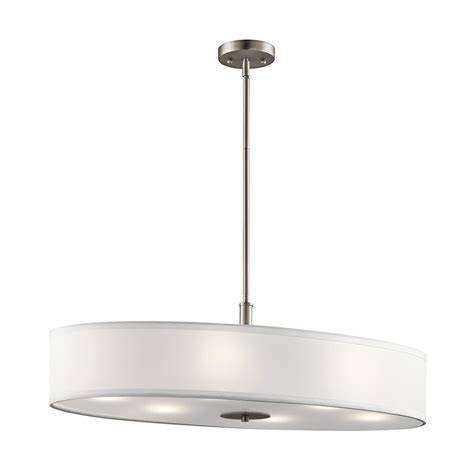 brushed nickel kitchen lighting shop kichler 16 in w 6 light brushed nickel kitchen island