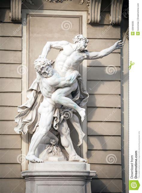 statue  hercules fighting antaeus  hofburg palace