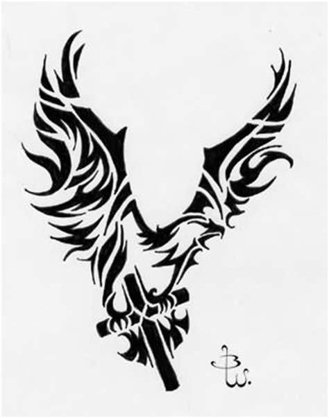 tribal cross with wings tattoo tribal wings cross tattooshunt
