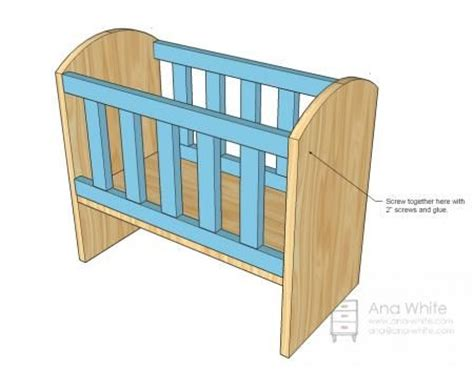 Baby Doll Crib Plans To Make Crib For Bitty Baby Woodworking D Abo Diy Crib And Babies
