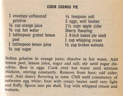 printable pie recipes cider eggnog pie a mid century recipe test the mid