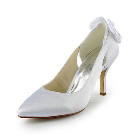 3 inch bridal shoes chic white pumps stiletto heels satin 3 inch bridal