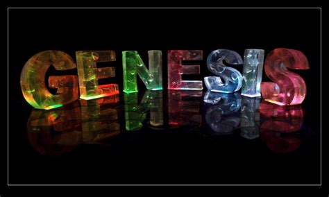 what is the meaning of the word genesis the name genesis in 3d coloured lights