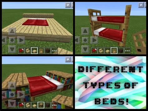 how to make a bed in minecraft pe bunk bed minecraft pe images