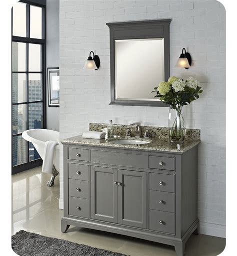Fairmont Designs Bathroom Vanities 1504 V48 Fairmont Designs Smithfield 48 Quot Modern Bathroom Vanity In Medium Gray