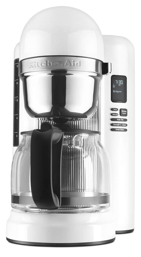 kitchen aid coffee pot kitchenaid kcm1204wh 12 cup coffee maker with one touch brewing white ebay