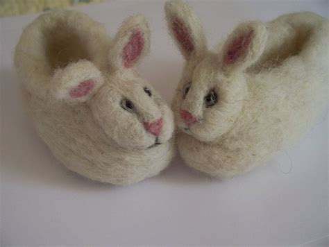 bunny rabbit slippers soft wool baby bunny slippers