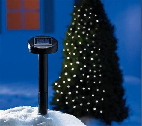 white solar powered outdoor christmas lights