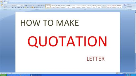 how to make quotation in excel microsoft excel how to make quotation letter