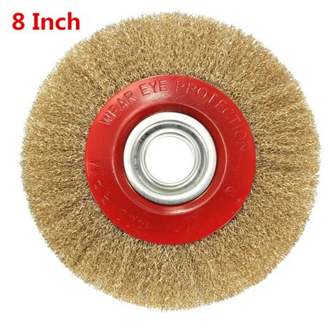 5 inch bench grinding wheel 5 6 8 polishing wire brush wheel for bench grinder with