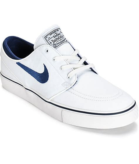 nike sb zoom stefan janoski summit white midnight navy