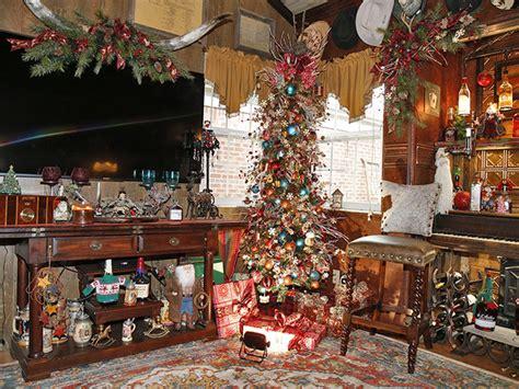 home  christmas log cabin