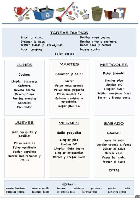 ejemplo nominasbempleadas del hogar 2016 tareas casa pdf una forma de planificar las tareas de la