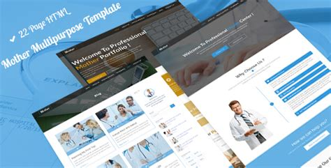 Mother Multipurpose Business Medical Construction Portfolio Dental Html 5 Template By Construction Portfolio Template