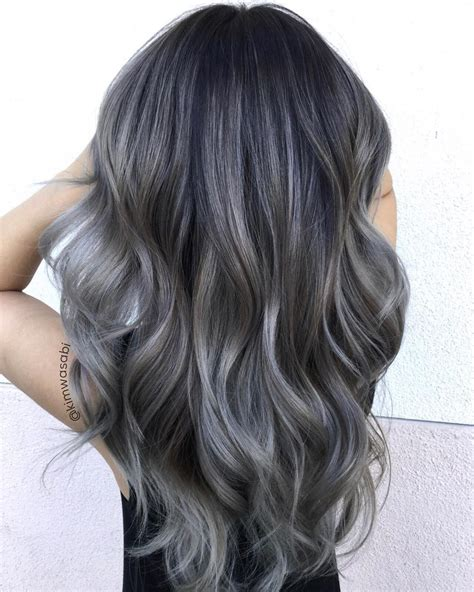 Grey Hair Style For Black by Charcoal Hair The New Low Key Trend On Instagram Hair