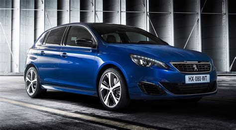 peugeot 308 gti blue peugeot 308 gt 2014 takes on golf gti by car magazine