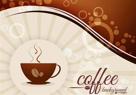 wallpaper coffee vector coffee background with beans and cup vector download