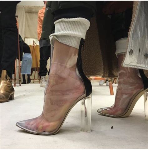 shoes transparentshoes boots mid heel boots see
