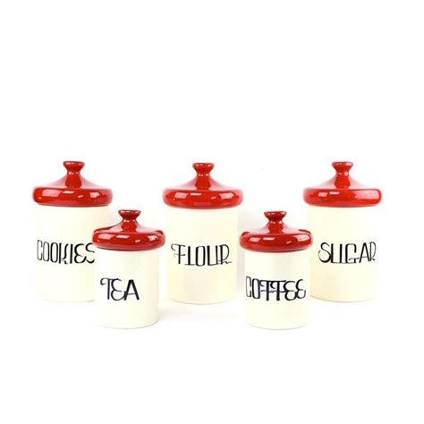 Kitchen Canisters Set Of 4 Canister Set Canister Sets Kitchen Canisters And Kitchens