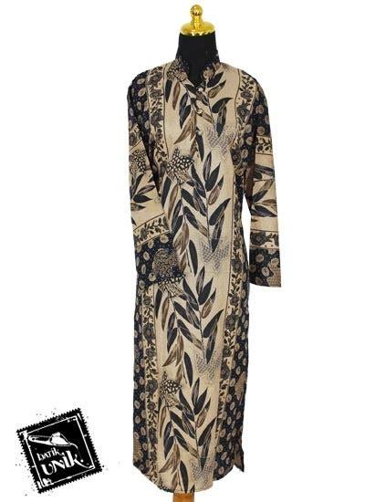 Gamis Daster Panjang Longdress baju batik longdress motif daun bambu daster longdress