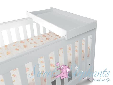 Cots And Change Tables New 5 In 1 White Baby Cot Bassinet Toddler Bed Change Table Mattress Ebay
