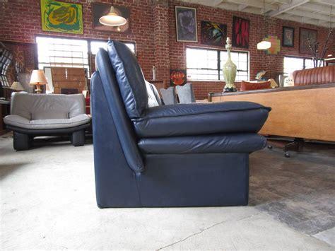 navy blue leather sofa by nicoletti salotti at 1stdibs