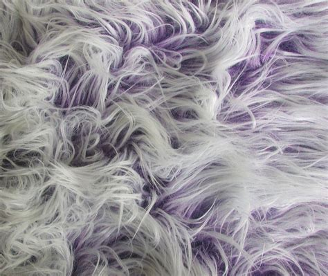 Fur Upholstery Fabric by Faux Fur Purple Frosted Mongolian Upholstery Fabric