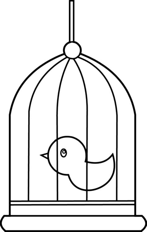 coloring pages of bird cages cute little bird cage coloring pages cute little bird