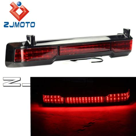 led lights for harley davidson ultra zjmoto unpainted led brake running light for harley