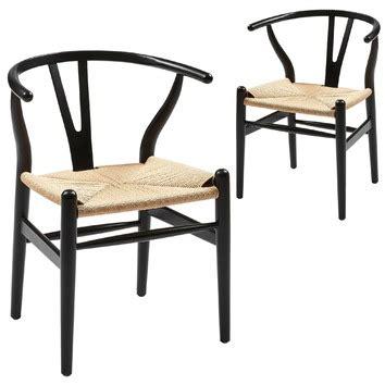 black natural replica hans wegner wishbone chairs temple webster
