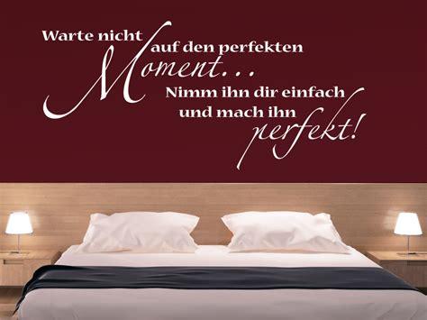 Schlafzimmer Auf Englisch by Wandtattoo Warte Nicht Auf Den Perfekten Moment