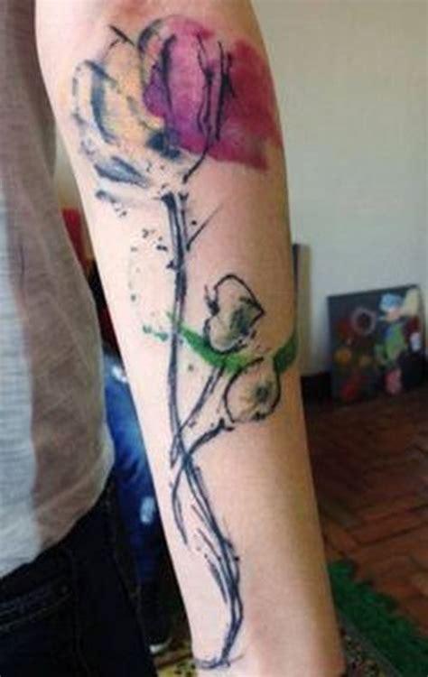 watercolor tulip tattoo on instagram amazing tulip ideas flowertattooideas
