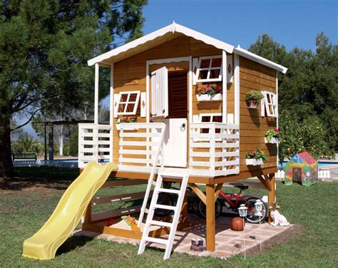 backyard kids house wood outdoor playhouses for girls and boys from green