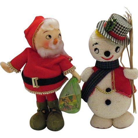 styrofoam santa vintage styrofoam santa snowman display figurines 1950
