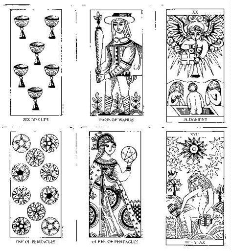 printable tarot cards to color free coloring pages of tarot