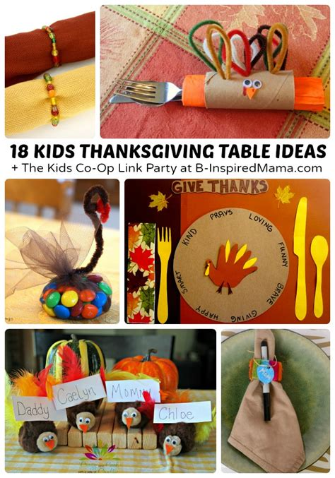 Creative Kids Thanksgiving Table Ideas B Inspired Mama Unique Children Ideas