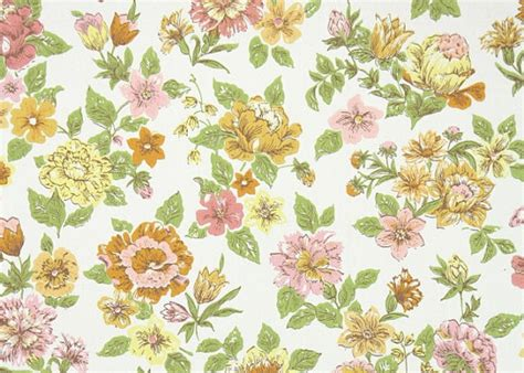 flower wallpaper etsy 1960 s vintage wallpaper retro floral by hannahstreasures