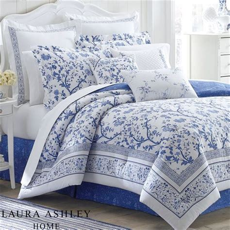 white flower comforter charlotte blue and white floral comforter bedding by laura