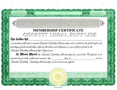 certificate of partnership template blank stock certificates
