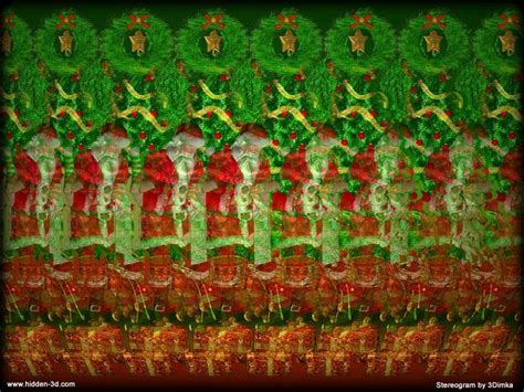 Kaos 3d Magic Dawer stereogram by 3dimka or tags santa claus presents 3d